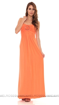 Sky Orange Slaya Strapless Dress