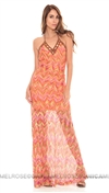 Sky Coral Sotirios Long Dress