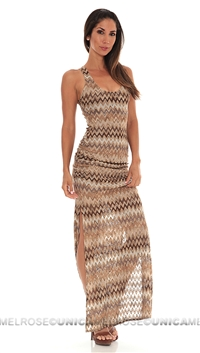 Sky Brown Stavros Long Dress