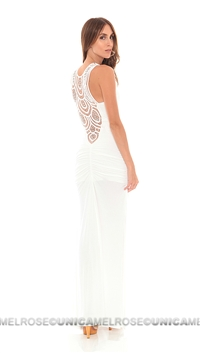 Sky White Maram Long Dress