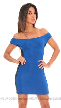 Sky  royal blue mini dress