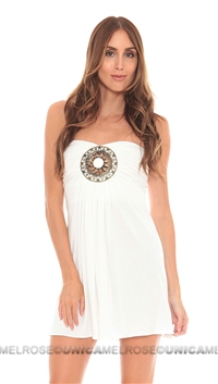 Sky White Hemanti Dress
