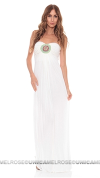 Sky White Khatiba Strapless Dress