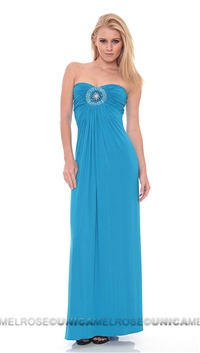Sky Seferun Blue Khatiba Strapless Dress