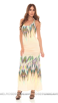 Sky Yellow Larche Long Dress