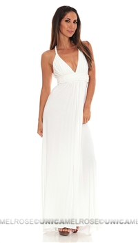 Sky White Latah Long Dress