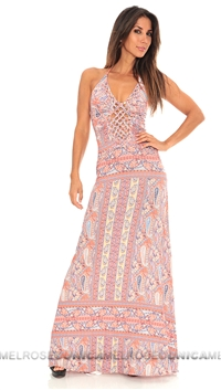 Sky Coral Libre Long Dress