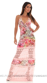 Sky Pink Liberty Long Dress