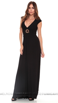Sky Black Librada Long Dress
