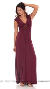 Sky Burgundy Librada Long Dress