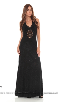 Sky Black Lokeloni Long Dress