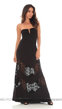 Sky Black Maachah Long Dress