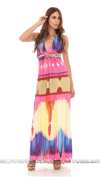 Sky Fushia Majime Long Dress