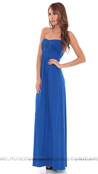 Sky Royal Blue Manyara Strapless Long Dress
