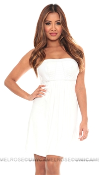Sky White Holie Mini Dress