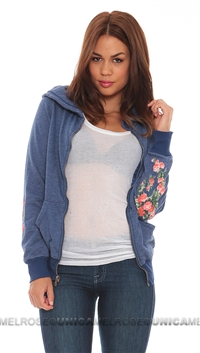 Wildfox City Blue Hooded Roses Are Red