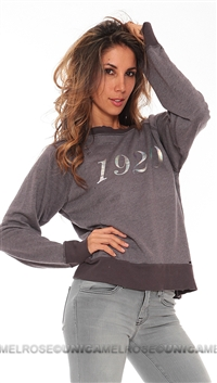 "Wildfox Ash Grey ""Worn In"" Long Sleeve Top"