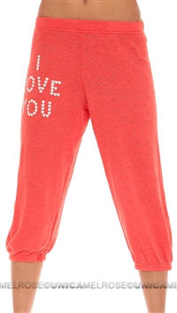 Wildfox Orange Lilhartspel Pants