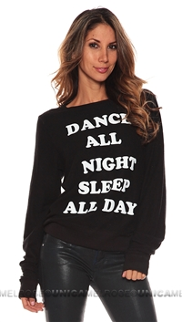 Wildfox Black 'Dance All Night' Sweater