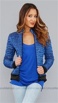 Anatomie Blue Morgan Rouched Puffy Jacket