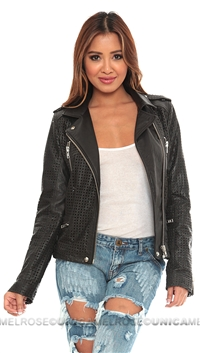 IRO Black Caelie Leather Jacket
