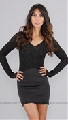 Boulee Black Lace Dress