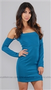 Boulee Teal Kirsten Off Shoulder Dress
