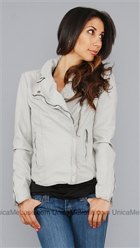 Muubaa Sand Monteria Leather Jacket