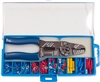 160903-001 QuickCable 100 Piece PVC Solderless Terminal Kit With Crimper