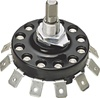 "246-052-666 Rotary Selector Switch 2"" Diameter 15 Amp 10 Position"