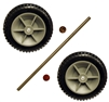 "0099000226 Rubber Wheel, 6"" Plastic 3/8"" Axle"