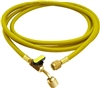 "HJ3YE CPS 3' Yellow Premium Hose, 5/16"" (1/2""-20 UNF) Fittings & BV on end"