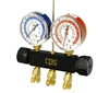 MBC CPS R-12, 22, 502 2 Valve Anodized Aluminum Manifold Gauge Set - Manifold Only