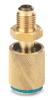 "6038 FJC Inc. R134a Anti-Blowback Adapter - 1/2"" ACME Male x 1/2"" ACME female"