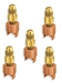 "A32906 JB Industries Copper Saddle Access - 3/8"" Solder 5 Pack"