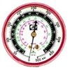 M2-500 JB Industries High Side Red R-12 / R-22 / R-502 Pressure Gauge - 2-1/2""