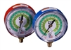 M2-829 JB Industries High Side Illuminating Face Red R-427A / R-422B / R-407A Pressure Gauge - 3-1/8""