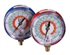 M2-831 JB Industries High Side Illuminating Face Red R-22 / R-410A / R-407C Pressure Gauge - 3-1/8""