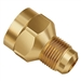 UR3-46-1 JB Industries 1/4 Female Flare x 3/8 Male Flare Adapter With Copper Gasket (Each)