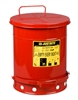 09300 Justrite 10-Gallon Oily Waste Can For General Use