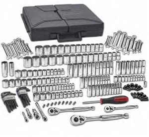 "80933 KD Tools GearWrench 216 PC 1/4"" 3/8"" 1/2"" Drive 6-12 Pt Mechanics Tool Set Multi Drive"