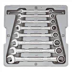 9308 KD Tools 8 Pc. Standard Fractional Combination Ratcheting Gearwrench Set