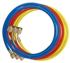 "45360 Mastercool Set Of 3-60"" Standard Hoses W/Shut-Off Valve Fitting"