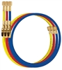 "49264-72J Mastercool Yellow 72"" Hose 1/2""-20 UNF M x F with Built In Manual Shut-Off Valve"