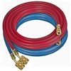 "68420 Robinair Set Of 20' 1/4"" Flare Enviro-Guard Hoses Red And Blue Quick Seal Fittings"