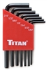 12727 Titan 7pc SAE Short Arm Hex Key Set