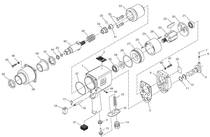 Ingersoll Rand T30 Parts Diagram