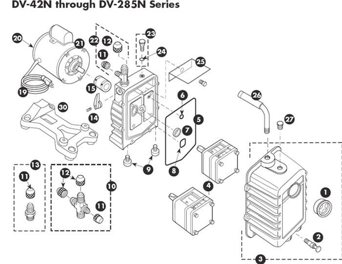 JB Industries PLATINUM Series Vacuum Pump Repair Parts for