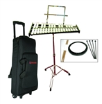Mirage GPBK1 Bell Xylophone Percussion Kit w/ Rolling Bag Student Package
