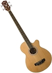 Washburn AB5K Acoustic-Electric Bass Guitar - Natural with Gig Bag